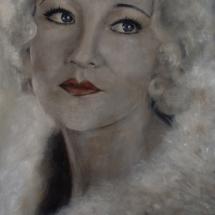 Betty Compson Acryl op linnen 100 x 200 cm 2013