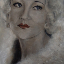 Betty Compson (SOLD) Acryl op linnen 100 x 200 cm 2013
