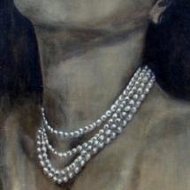 Hedy Lamarr PEARL acryl op canvas 180 x 60