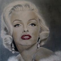 Marilyn Monroe (SOLD) Acryl op linnen 100 X 100 cm 2014