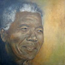 Nelson Mandela Acryl op linnen 100 x 100 cm 2013