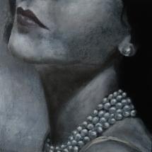 Parels Acryl op canvas en paneel 40 x 40