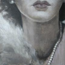 Parels Hedy Lamarr Acryl op canvas en paneel 36 x 36 cm 2017