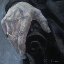 Hand Acryl op canvas 25 x 25 cm 2017