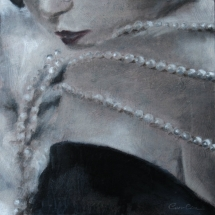 Parels Marie Provost (SOLD) Acryl op canvas en paneel 36 x 36 cm 2017