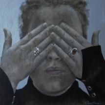 Portret Acryl op canvas 40 x 40