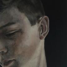 Jens (SOLD) Acryl op karton en paneel 39 x 55 cm 2017