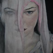 Portret Acryl op linnen 87 x 134 cm (2018)