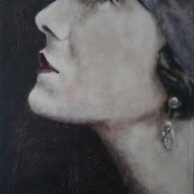 Portret 19dertig acryl op linnen en paneel 49 x 49 cm 2018