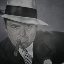 Al Capone Acryl op linnen 200 x 120 cm 2018