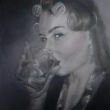 Verleiding... Acryl op linnen en paneel 72 x 92 cm 2019